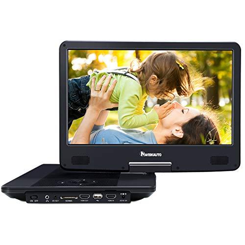 """NAVISKAUTO 14"""" Tragbarer DVD Player Blu-ray 1920 * 1080 Full HD 1080P Video Auto Fernseher Kopfstütze Monitor mit HDMI Anschluss Drehbarer Bildschirm unterstützt Regioncode 2 Schwarz"""