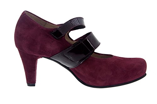 Scarpe donna comfort pelle Piesanto 5228 scarpe di sera comfort larghezza speciale Burdeos