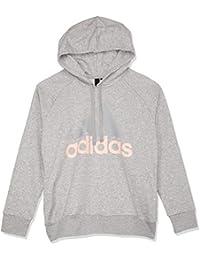 e461bac8d246 adidas Damen Essentials Linear Open Hem Hooded Kapuzen-Sweatshirt