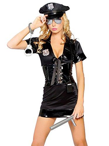 Gorgeous Halloween Frauen und Männern in Polizeiuniformen Uniformen Diskothek FilmkostümeCosplay , #1 (Für Halloween-kostüme Männer Weiblichen)