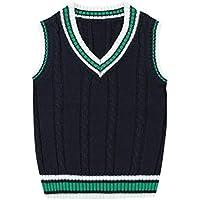 ZJEXJJ Chaqueta de Punto del Chaleco del Uniforme del Viento de la Resorte y otoño (Color : Green, Tamaño : 110cm)