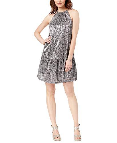 MICHAEL Michael Kors Womens Metallic Animal Print Cocktail Dress Michael Kors Animal Print