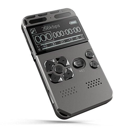 LCD Display High-Definition Intelligente Rauschunterdrückung Professional Digital Recording Pen 8GB, mamum 8g wiederaufladbar LCD Digital Audio Diktiergerät Voice Recorder Aufnahmegerät MP3-Spieler (High-definition-speicher)
