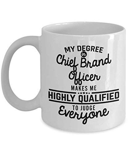 SHALLY Chief Brand Officer Coffee Mug - Funny 11 Oz Novelty Tea Cup Gifts Ideas for Men Woman Dad Husband Boyfriend Girlfriend Best Friend Coworker Colleague