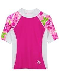 Tuga Manga Corta UV Natación Camisa–diseño de 4–14años–UPF50+ sol Protección (6colores disponibles)