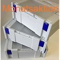 Tanos Systainer Classic GR2 compartimento de tapa gris Juego de 3 promoción del mes Cierres Gris