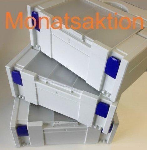 Preisvergleich Produktbild Tanos Festool BTI Hitachi Systainer Classic Gr2 Deckelfach grau 3er Set Monatsaktion