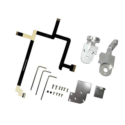 KESOTO Gimbal Reparatur Kit für DJI Phantom 3 Standard, Yaw Arm Roll Arm Bracket + Flexible Gimbal Flat Ribbon Flex Cable + Schrauben und Tool