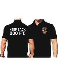 'Polo Black, Keep Back 200ft. avec emblème NYC Fire Department