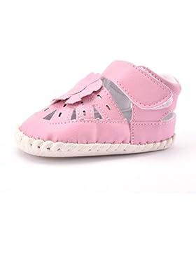 Ouneed® Krabbelschuhe , 0-18 Monat Baby Blumen Sandelholz Kleinkind weich Sohle Turnschuhe Oberleder Schuhe