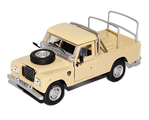 Cararama Land Rover Defender Series III 109 Pick-Up Beige Safari 1/43 Modell Auto