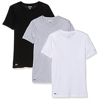 Lacoste Underwear Multipack Slim Fit C/N Tee (3PK), Maillot De Corps Homme, Multicolore (Sortiert 1 901), Large (Lot de 3)
