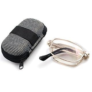 Foxnovo Anti-Ermüdungs-Folding-Handy Lesen Brille Presbyopisch Brille + 2,0 Tasche Mit Reißverschluss Nylon Etui