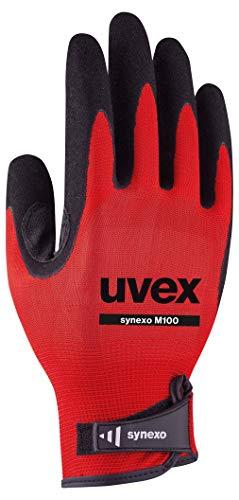 Uvex Synexo M100 Gepolsterte Arbeitshandschuhe - Rot-Schwarz - Gr 11 (XXL)