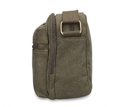 Per Da A Verde Uomo 8620s Ventiquattrore Militare Vintage Uomo In Tela Nera Borsa Tracolla nera 8w1ndqC