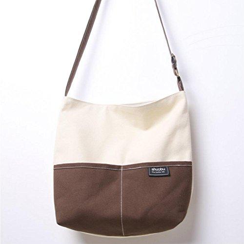 Sac à main sac en toile de coton école d'art étudiants sac étudiants Messenger école de vent couture sac dames coffee coffee