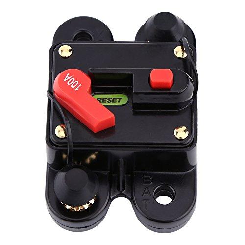Preisvergleich Produktbild 12V-24V 80-300A DC Auto Auto Marine Boat Bike Stereo Audio Leistungsschalter Reset Sicherung(100A )