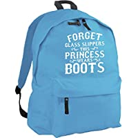 HippoWarehouse Forget glass slippers this princess wears boots backpack ruck sack Dimensions: 31 x 42 x 21 cm Capacity: 18 litres