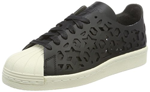 adidas Superstar 80S Cut Out W, Zapatillas de Deporte Para Mujer, Negro (Negbas/Negbas/Casbla), 37 1/3 EU