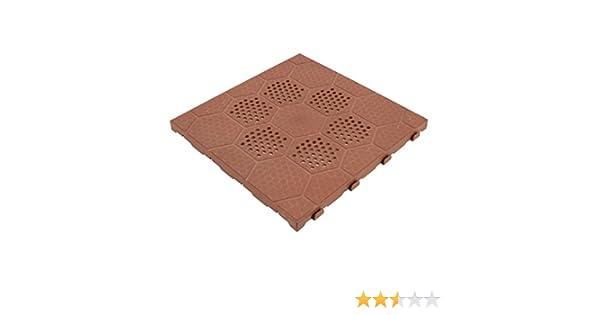 Artplast piastrella in resina 40x40 cotto per esterno easy: amazon