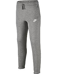 Nike B Nsw El Cf Aa - Pantalones para niños, color Gris (Dk Grey Heather / Dark Steel Grey / White), talla XL