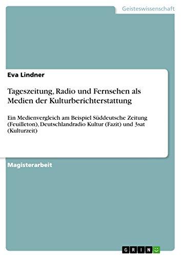 Tageszeitung Radio Und Fernsehen Als Medien Der