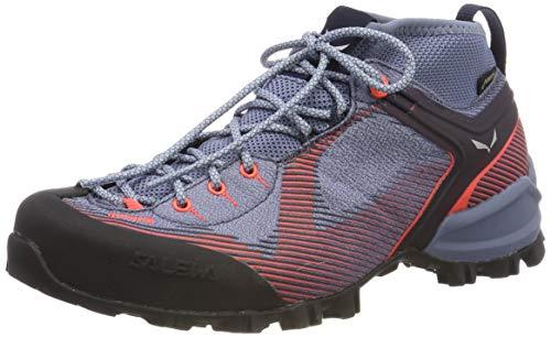 SALEWA WS Alpenviolet GTX, Stivali da Escursionismo Alti Donna, Blu (Blue Fog/Fluo Coral 346), 38.5 EU