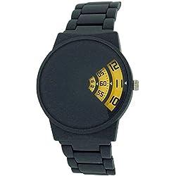 Softech Gents Modern Rotating Dial Grey Rubberised Bracelet Strap Watch SE287