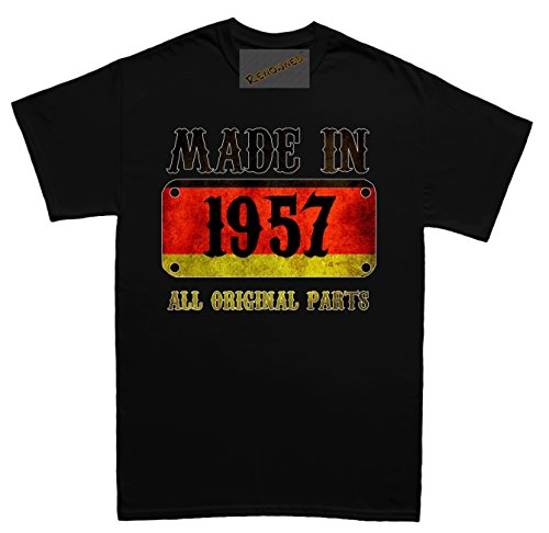 Renowned Made in Germany in 1957 all original parts German Flag Inside Unisex - Kinder T Shirt Schwarz