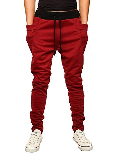 leward-pantaloni-da-jogging-sportivi-casual-sarouel-uomo-rosso-xxl