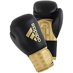 adidas Unisex Hybrid 100 Boxing Gloves, Gold, 16 Oz