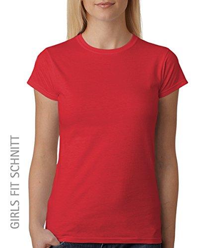 -- Reiten macht schön UND Arm – Girls T-Shirt auch im Unisex Schnitt Rot