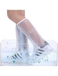 Doble Reutilizable Sellada a Prueba de Polvo a Prueba de Viento Protección de Cierre de Cremallera Resistente al Desgaste Blanco Zapatos Planos Alta Cubre para Día Lluvioso S (25.5cm)