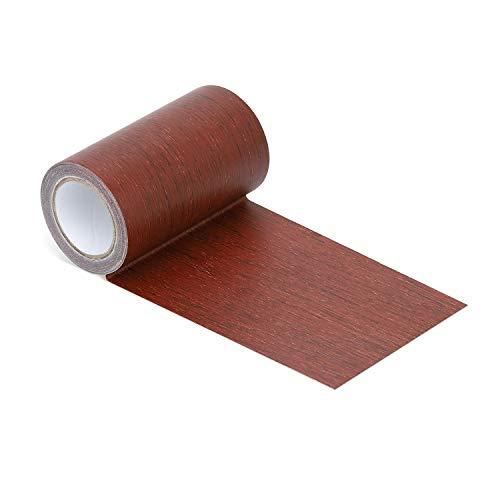 Reparatur-Klebeband, 6,4 cm x 19 cm, Holzstruktur, Klebstoff für Tür, Boden Tisch und Stuhl mahagoni -