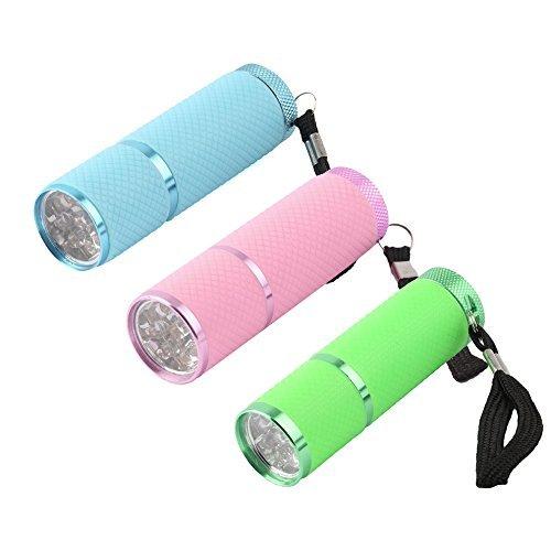 Coolrunner - 3 mini linternas LED secado uñas portátil