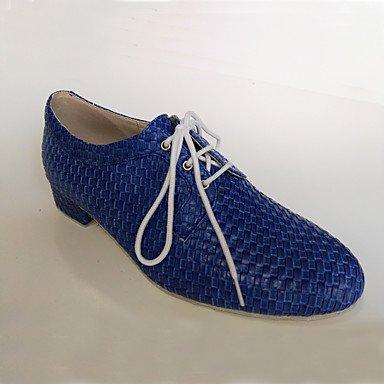 Scarpe da ballo-Non personalizzabile-Da uomo-Moderno / Scarpe da swing-Basso-Finta pelle-Nero / Blu / Grigio / Altro Dark Blue