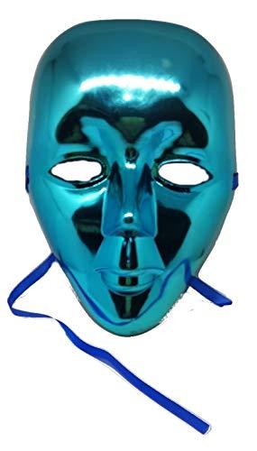 PICCOLI MONELLI Máscara Veneciana Mujer Sexy Cara Llena máscara Turquesa Venecia Carnaval Medio Brillante Cara