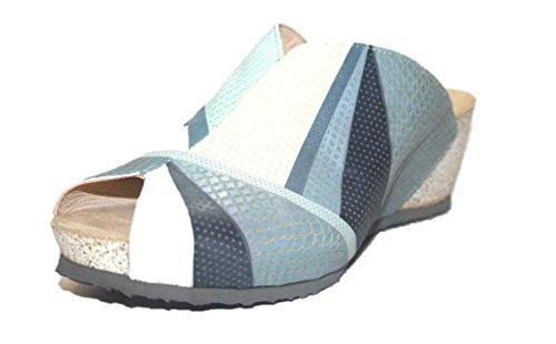 Think Zilli 82327 Damen Clogs & Pantoletten Blau (alu/kombi 17)