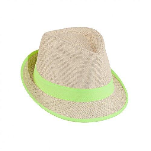 Party Hut 80er und 90er Jahre, natur-neongrün