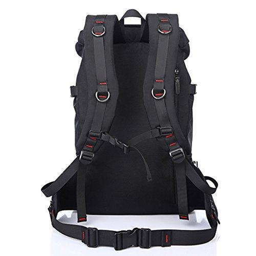 Super Modern Unisex Oxford klassischen Design Outdoor Tasche Reisen Rucksack Wandern Rucksack Große Kapazität Tasche schwarz - schwarz