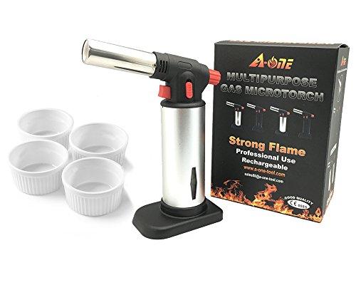 A-One Utensile da cucina per creme brulee con confezione da 4ramekin-creme Brulee Tool
