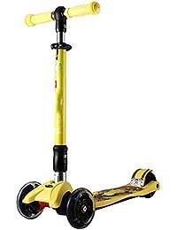 5a757d230 QFFL huabanche Scooter Scooter Plegable de Cuatro Ruedas Widening Flash  Triciclo Infantil Scooter de 2-