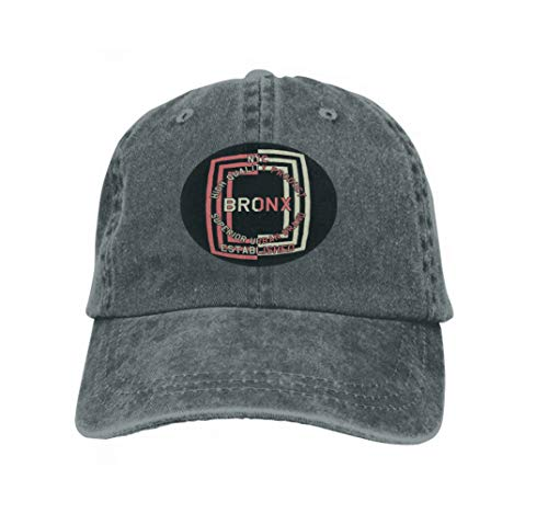 Xunulyn Unisex Women Cotton Adjustable Baseball Caps Low Profile Washed Dad Hats Graphic NYC Quality Product Bronx Print Carbon Color