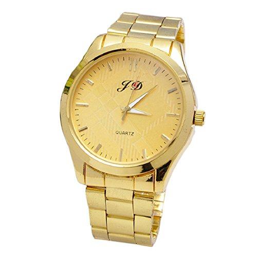 Culater® Reloj de Pulsera de Acero Inoxidable CláSico de Cuarzo AnalóGico Nueva Hombres de Lujo de Oro(oro)