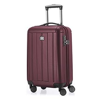 HAUPTSTADTKOFFER – Kotti – Equipaje de mano, Maleta cabina,  Trolley, 4 ruedas, ABS, ligero,  TSA,  56 cm, 37 litros, Borgoña