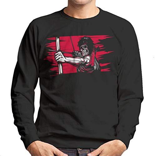 First Blood Skeleton Rambo Men's Sweatshirt