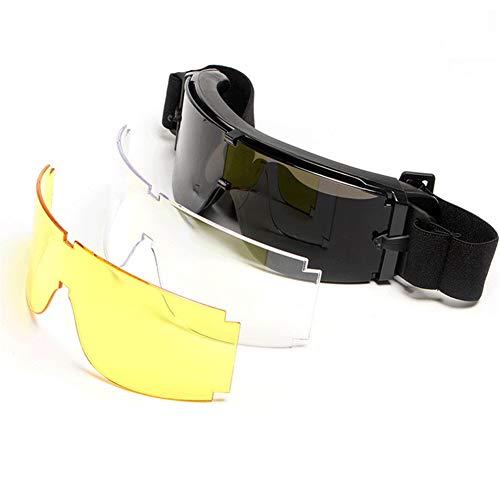 191b413f2f LUCKME X800 Gafas tácticas, Gafas Antideslizantes a Prueba de explosiones  de Motocicleta para Hombres y