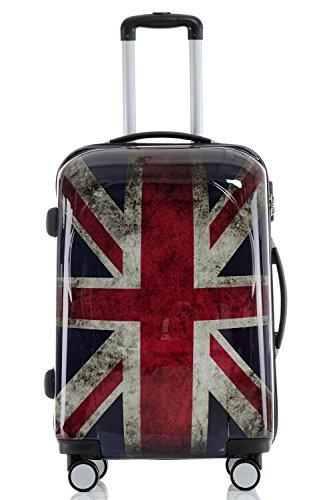 Maleta de viaje 2060,rígida, en 12 motivos, XL, L, M England XL+M(Handgepäck)