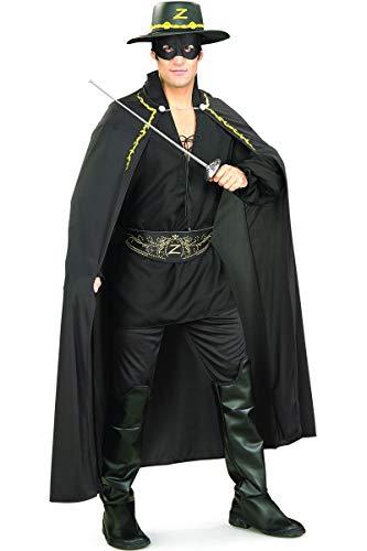 Deluxe Zorro Räuber Kostüm Erwachsene Karneval Fasching Verkleidung Extra Large