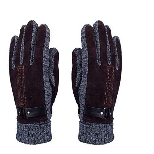 Herren Winter Handschuhe, Youson Girl® Herren Leder Handschuh Winddicht Warme Thermal Handschuh Abriebfest Outdoor Sport Handschuh (braun) (Leder Herren Ski-handschuh)
